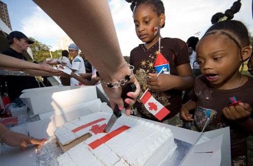 Canada Flag Cake