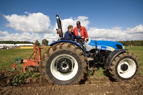 John Tory on a tractor IPM