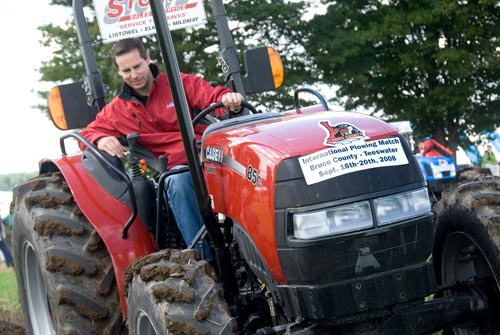 Dalton McGuinty on a tractor IPM