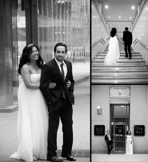 toronto wedding photos black and white