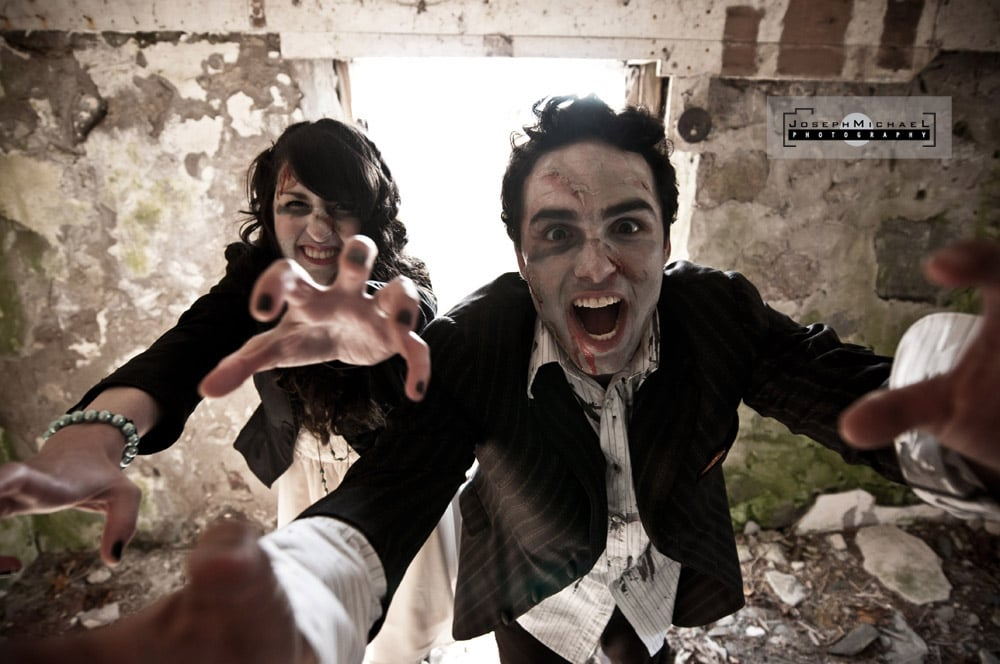 zombie engagement photos toronto