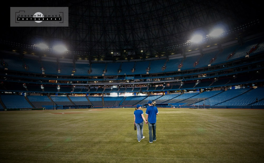 Rogers Centre Toronto Blue Jays Engagement Photos
