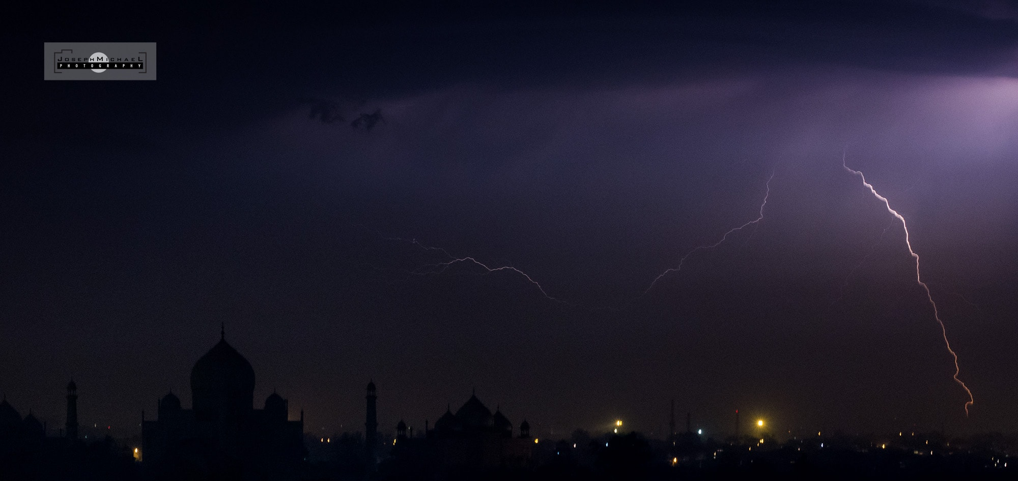 Lightning Striking near the Taj Mahal