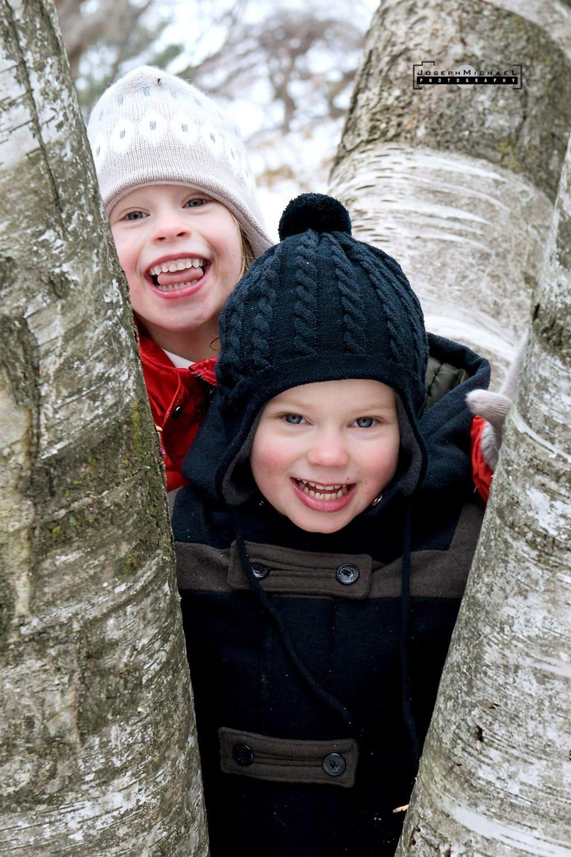 Snow Family Photo Winter Toronto High Park
