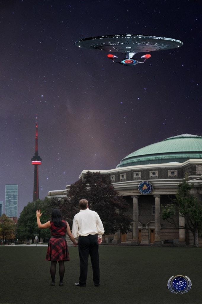Star Trek Engagement Shoot, University of Toronto Engagement Shoot