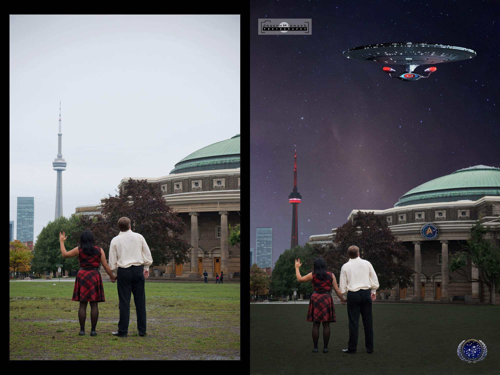 Star Trek Engagement Photo Shoot Toronto