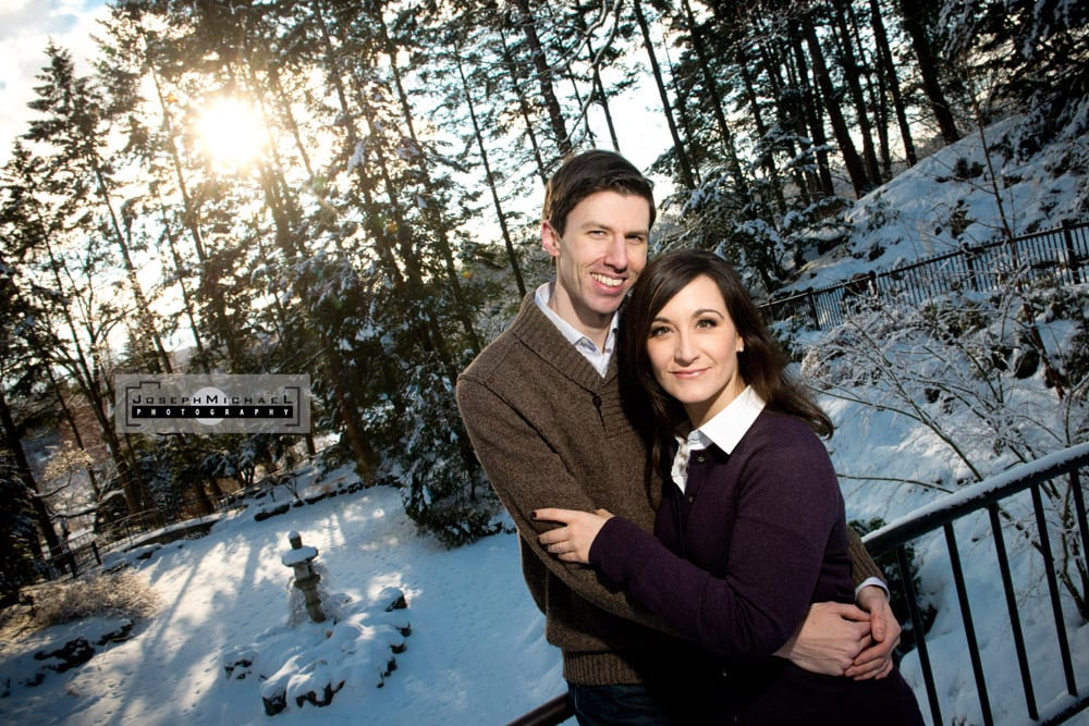 Winter Engagement Shoot with snow Toronto