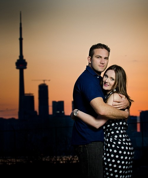 Sunset Engagement Shoot Toronto Skyline