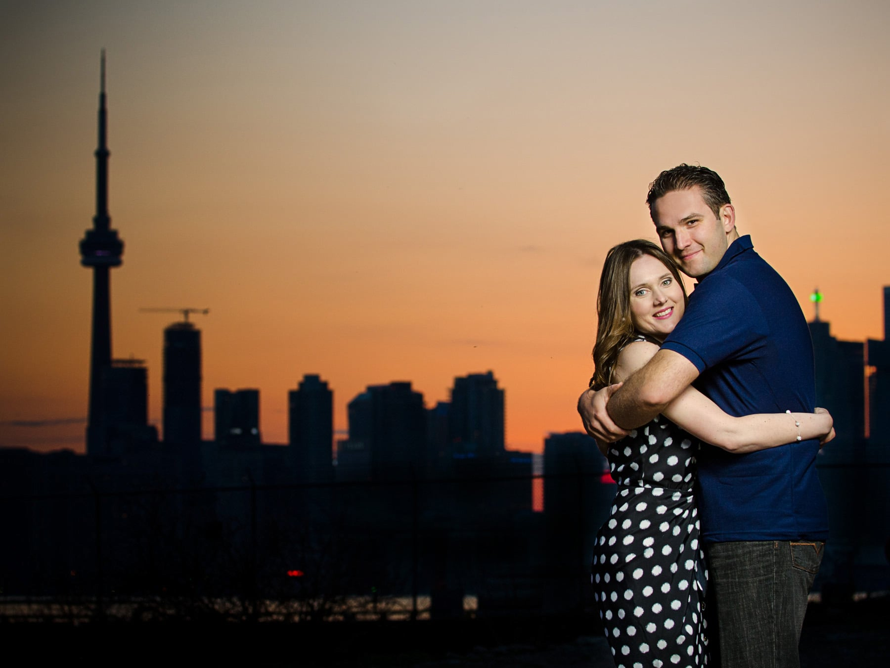Sunset Engagement Shoot Toronto Skyline