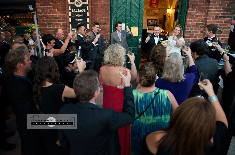 Balzac's Coffee Distillery District Toronto Wedding Photography