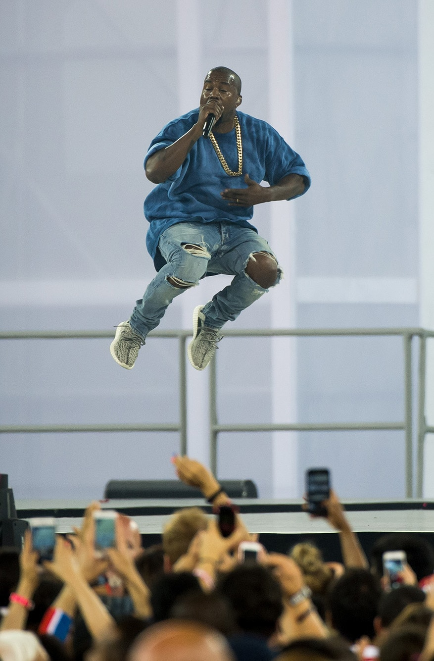 Kanye West performs during the closing ceremonies of the Toronto 2015 Pan Am Games.