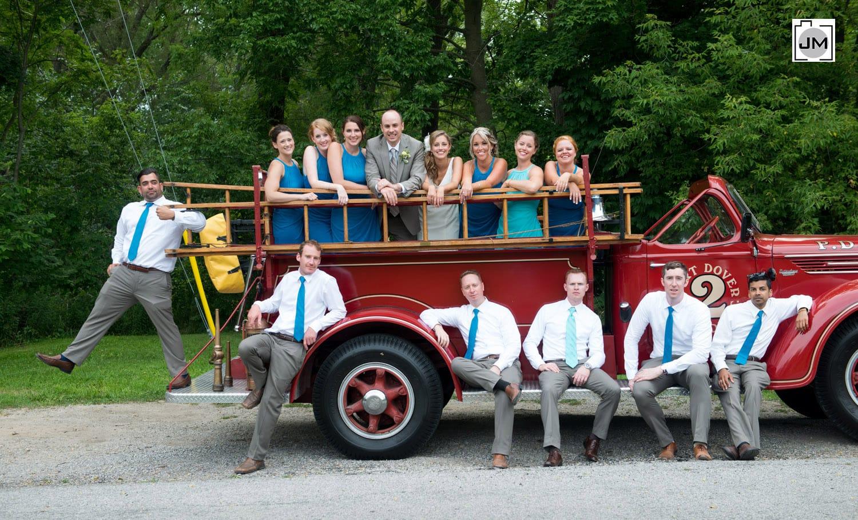 Port Dover Wedding - Fire Truck