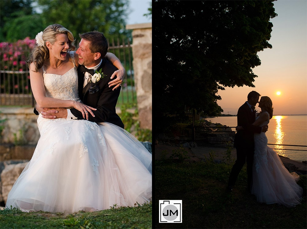 Edgewater Manor Wedding Sunset