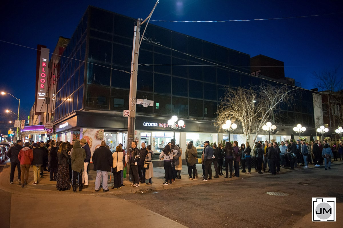 Line-up Outside Bloor Cinema for Purple Rain