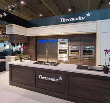 Photo of Thermador Canada home appliances booth at a corporate tradeshow