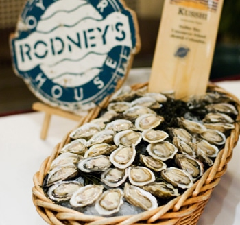 Photograph of product being showcase for Rodney's Oyster House in Toronto Ontario Canada