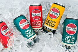 Photo of beer products on ice