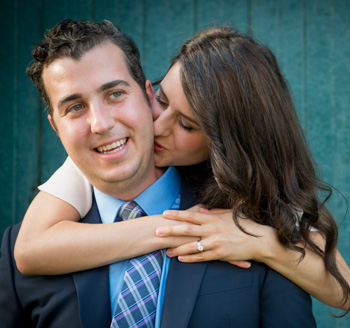 Engagement shoot for young Toronto couple